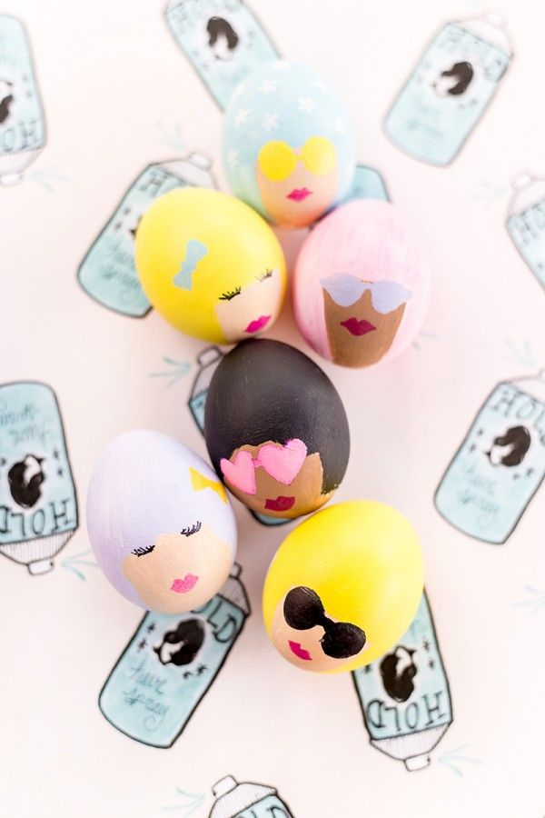 DIY Bouffant Easter Eggs   studiodiy.com