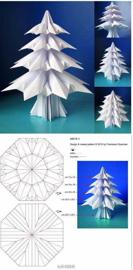 cute origami tree via duitang.com