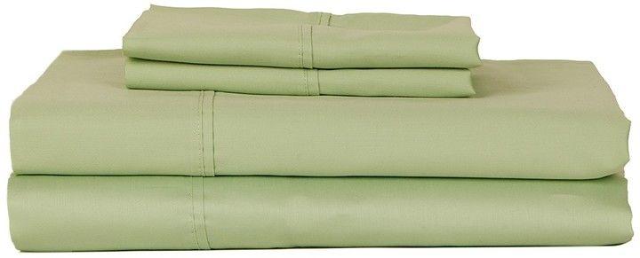 H.N. International Group Castle Hill 410 Thread Count Solid Sateen Sheet Set - Misty Jade