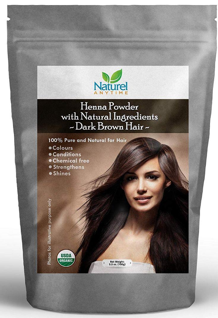 Henna for Dark Brown Colour Hair Strengthens, Shine