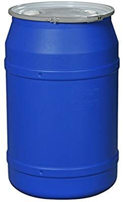 Eagle 1656mbbg Straight Sided Drum With Metal Band And Plastic Lid With Bungs 55 Gal Blue Metal Bands Shtf Preparedness Metal