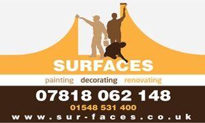 Surfaces Painting, Decorating and Renovating. #kingsbridge #painter #decorator #southhams