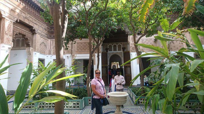 Marokko Riad Innenhof antike Haus  Morocco Riad Patio antique house