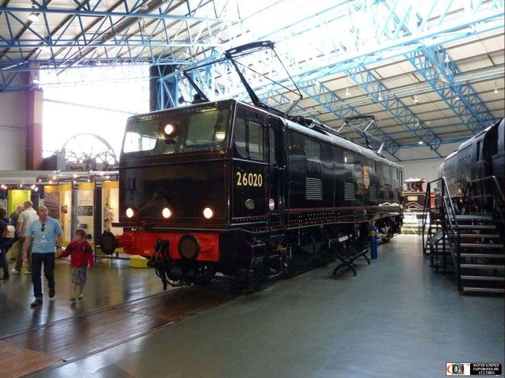 Электровоз 26020. Экспонат британского ж.д. музея. Йорк, Англия, Великобритания