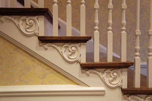 Love a pretty stair bracket!