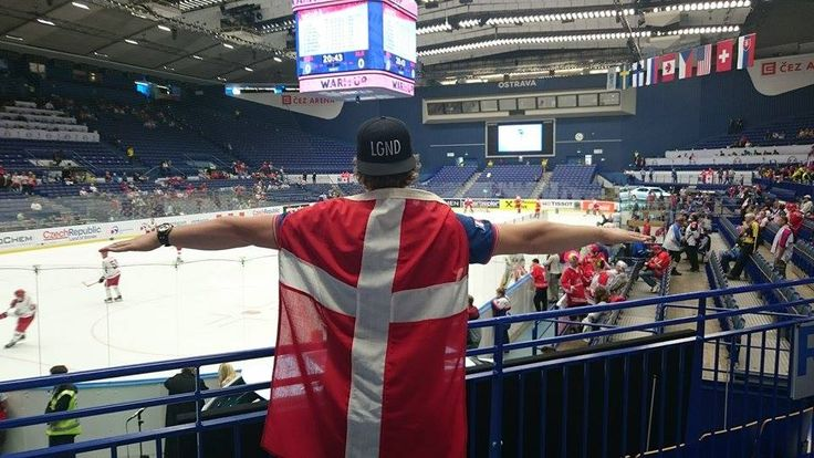Ostrava, Czech Republic - Danish hockey fan at the World Cup 2015