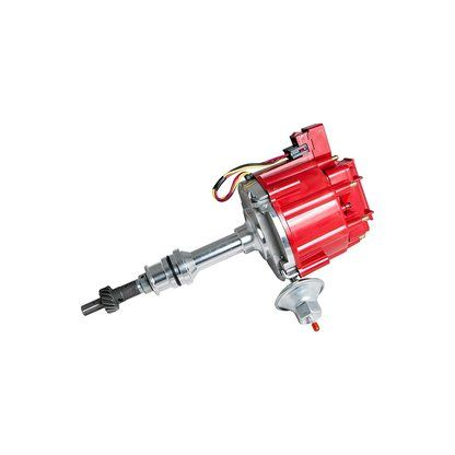 Top Street Performance JM6510R HEI Distributor with Red Cap (50K Volt Coil)