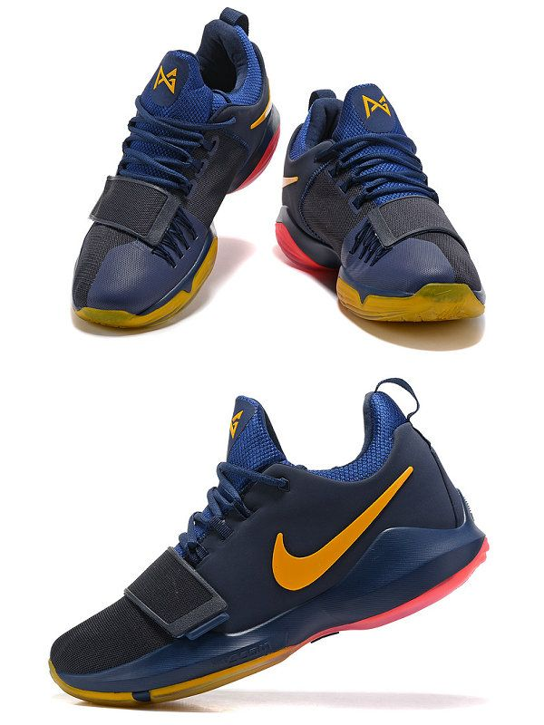 21a3ef65f7c0 ... denmark 2018 official newest paul george pg 1 one shoes 2018 dark blue  gold red nike