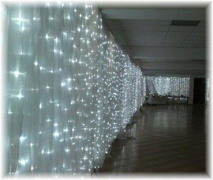 location rideaux lumineux mariage - Tenture Mariage Lumineuse