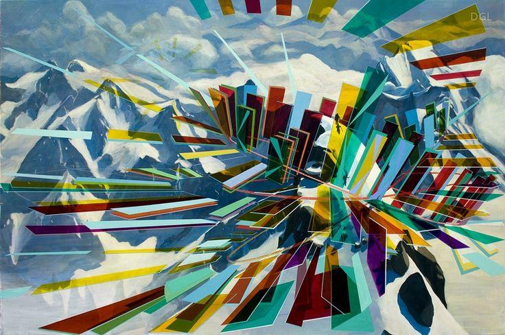 Painting Alpine Architecture, 2013, David Ledger, oil on linen, 180x120cm