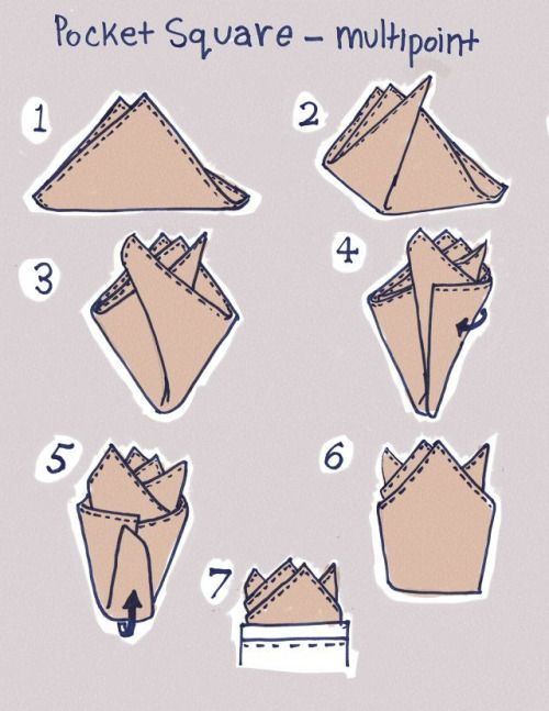How to fold the multipoint pocket square