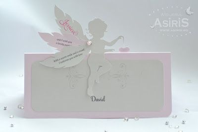 Plic bani botez cu Ingeras roz
