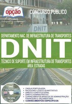 Apostila - TÉCNICO DE SUPORTE EM INFRAESTRUTURA DE TRANSPORTES - ÁREA ESTRADAS - Apostila Preparatór