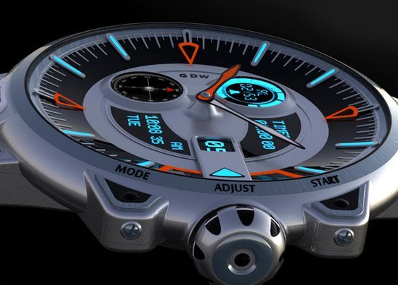 The G Shock concept watch is designer Alp Germaner's personal take on his favorite watch. I like the fact he has given it his