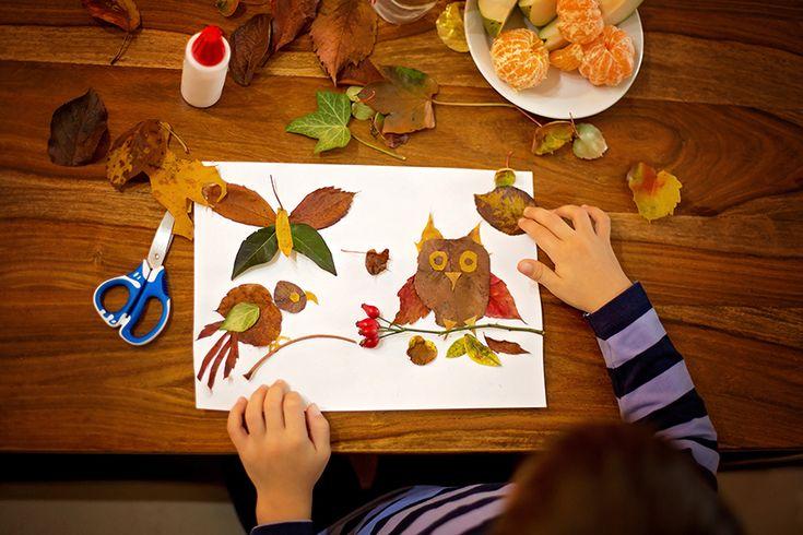 Őszi falevél kép készítés - Lurkovarázs.hu - Kreatív feladatok gyerekeknek