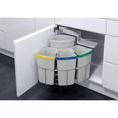 Vs Envi Center Plastic 5 Gallon Swing Top Pull Out Under