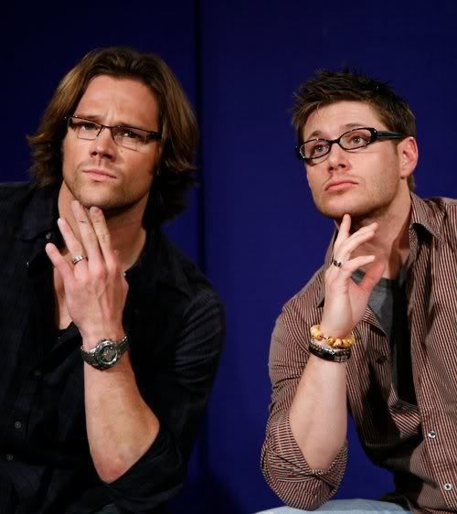Supernatural - Jensen & Jared: Jared And Jensen, Winchester Boys, Supernatural, Jared Padalecki, Jensen Ackles, Men'S In Glasses, Jaredpadalecki, Sam Winchester, Sam Dean