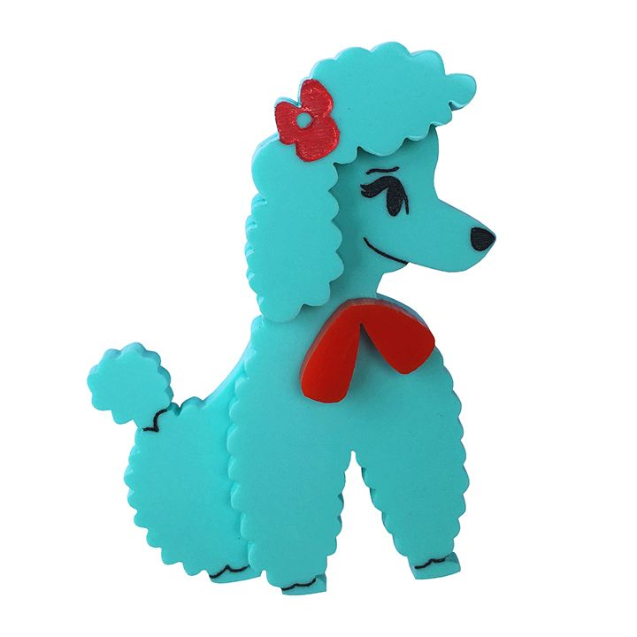 PATSIE POODLE brooch by Louisa Camille