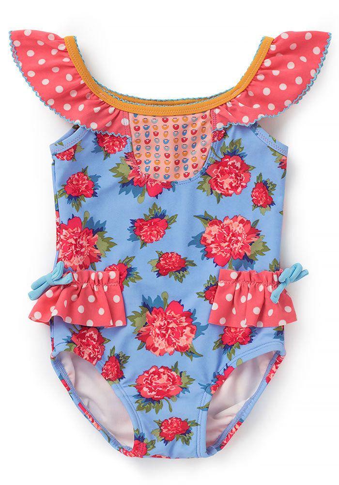 Pink Chicken Girls Cactus Belle Swimsuit,