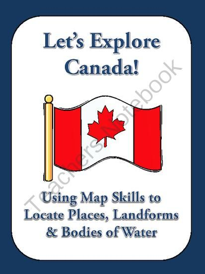 """Lets Explore Canada! Find Canadian Provinces & More on a Map from Christopher Mitchell on TeachersNotebook.com -  (3 pages)  - This assignment is titled """"Let's Explore Canada! Use a Map to Find Canadian Provinces, Territories, Cities, Landforms, and Bodies of Water."""" This assignment includes 20 questions that require students to analyze a map of Canada for boundari"""