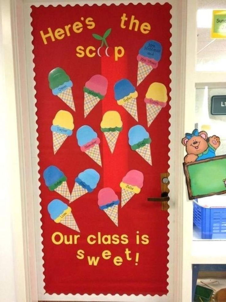 And Here S Some Scoop Of Ice Cream On Your Classroom Door For The Season Of Love School Door Decorations Door Decorations Classroom Preschool Bulletin Boards