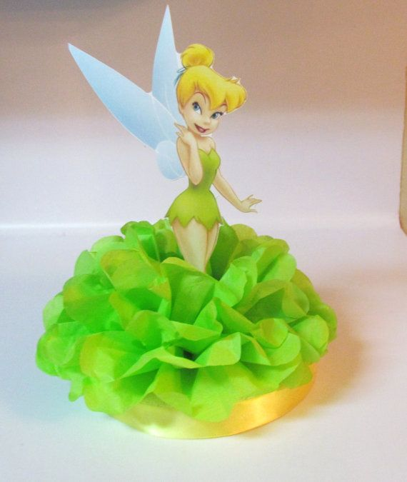 Tinkerbelle Fairy Centerpiece  Birthday by KhloesKustomKreation, $12.00