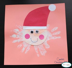 Christmas Arts And Crafts For Kids Should Always Involve Santa Projects This Ho Handprint