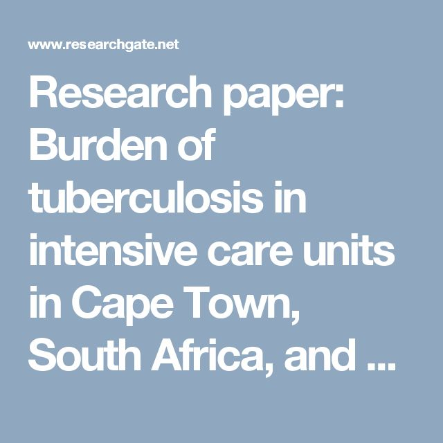 research paper on tuberculosis Research papers this database includes peer-reviewed publications authored or funded by tb alliance use the tags on the right to filter by subject, or search for a particular author or term using the search bar.