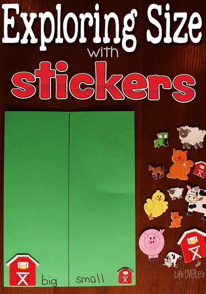 Learning About Size with StickersKim- Life Over C's