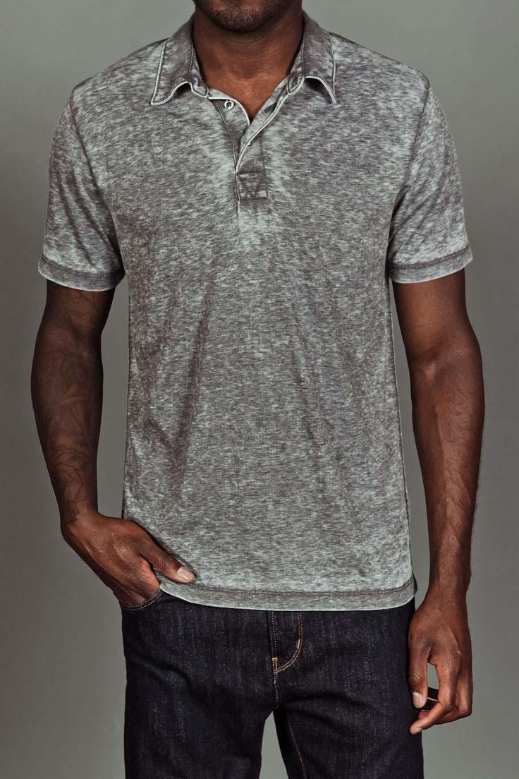 JackThreads - Burnout Polo Shirt Grey
