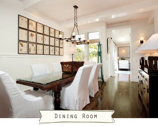 This home is one of my favorites!  I LOVE IT ALL.  The rich floors paired with the white...it's dreamy.