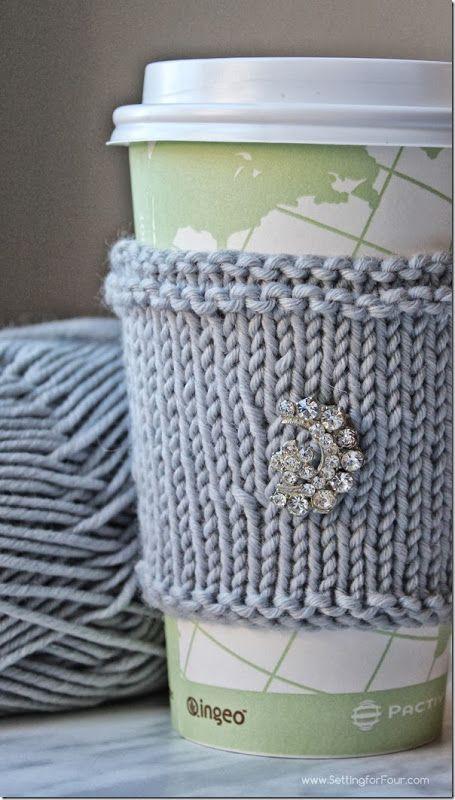 Taza de punto extra suave de bricolaje acogedor - ¡Gran idea para un regalo!