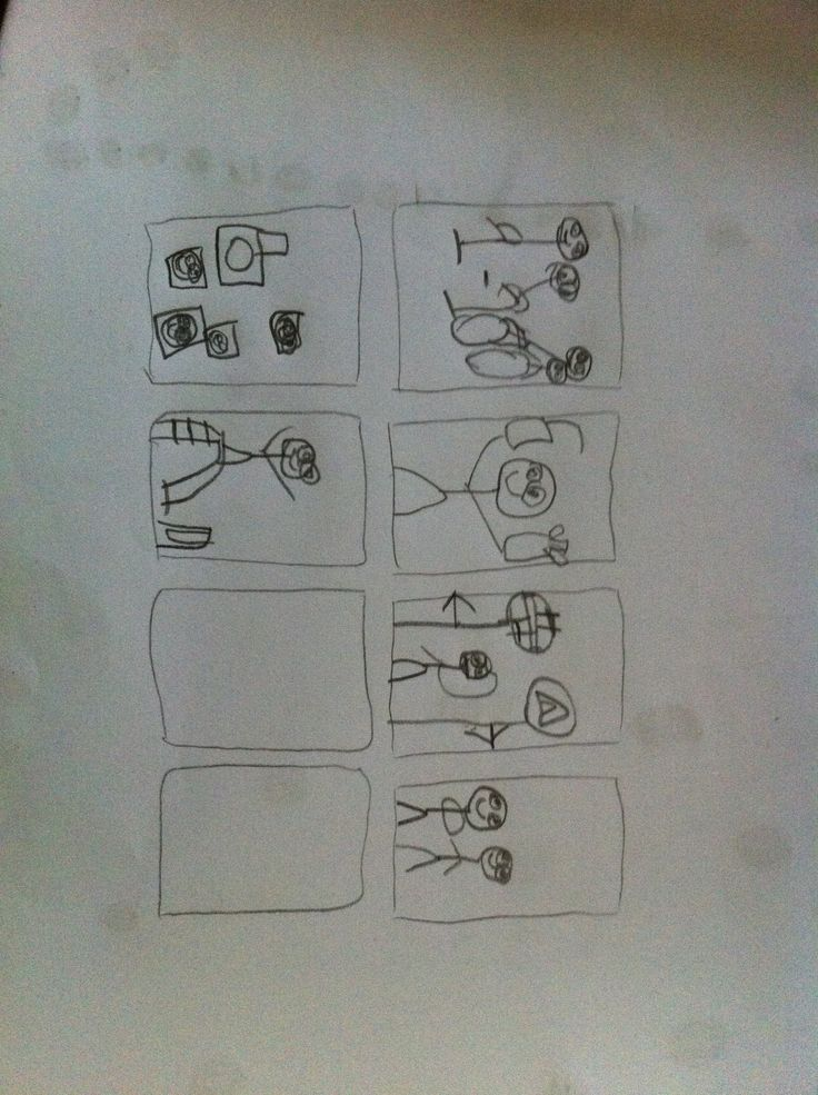 My kid's 1st comic panel :)