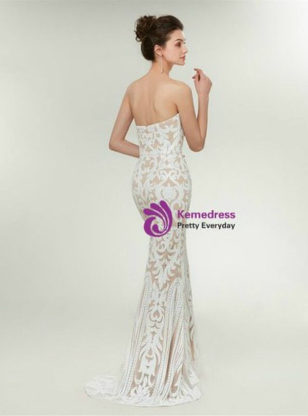 05272a725aa Fashion White Champagne Mermaid Sequins Sweetheart Prom Dresspromdress   promdress2019 longpromdress cheappromdress promdressunder200 promdressunder100  ...