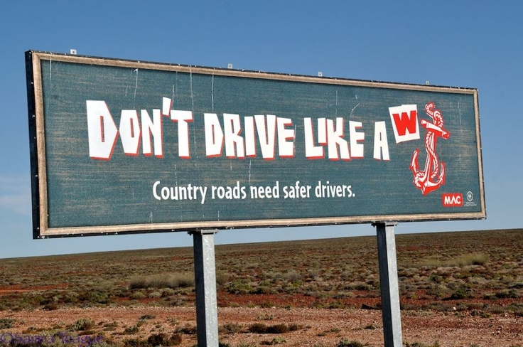 Sign in outback South Australia