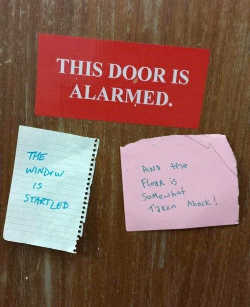 An alarmed Door...