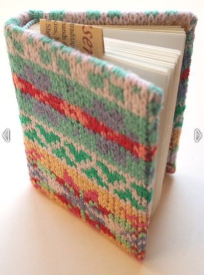 Make book jackets and notebook covers out of your old sweaters.   28 Crafty Ways To Stay Busy And Cozy When It's Snowing
