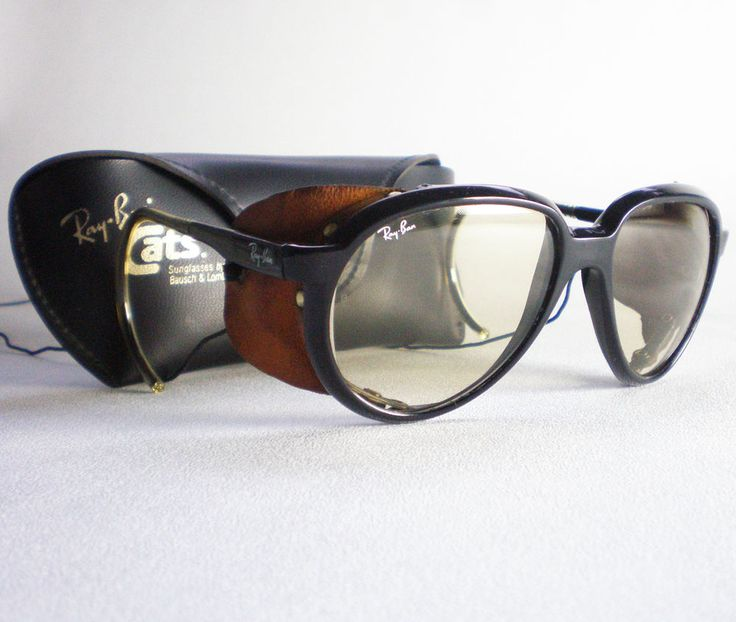 Vintage Ray Ban CATS 7000 GLACIER CHANGEABLES Sunglasses side shield  aviator | Clothes, Shoes &