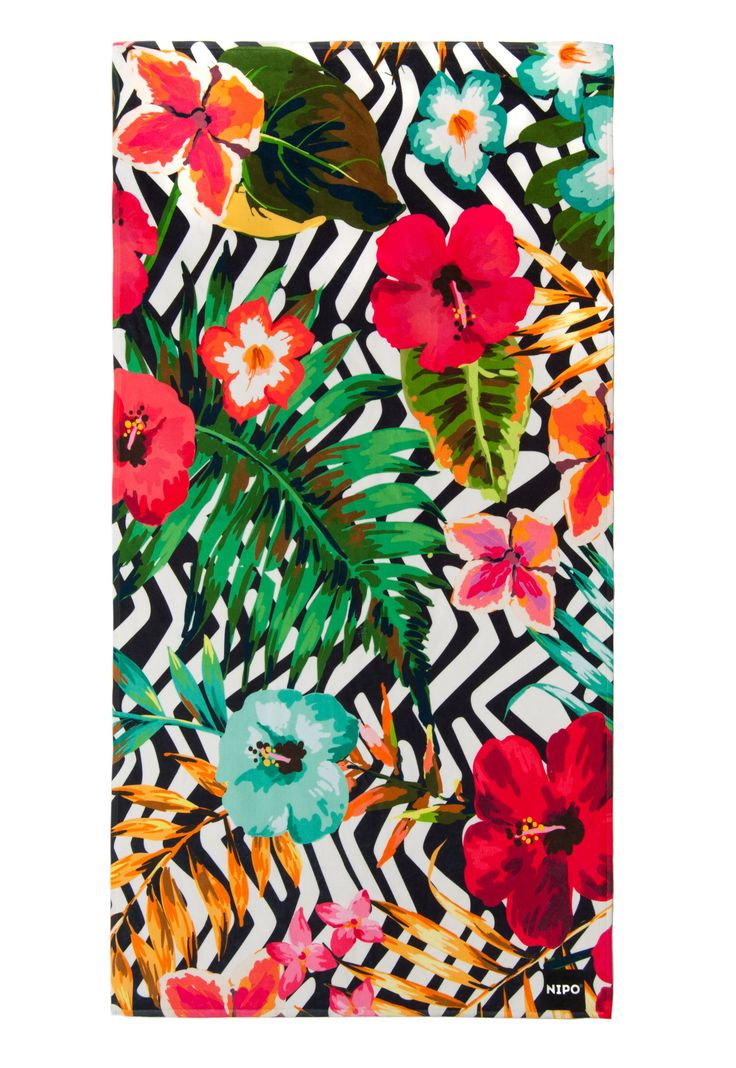 Nipo Beach Towel NEW Summer 2016 Floral Print Hawaii Boho ...