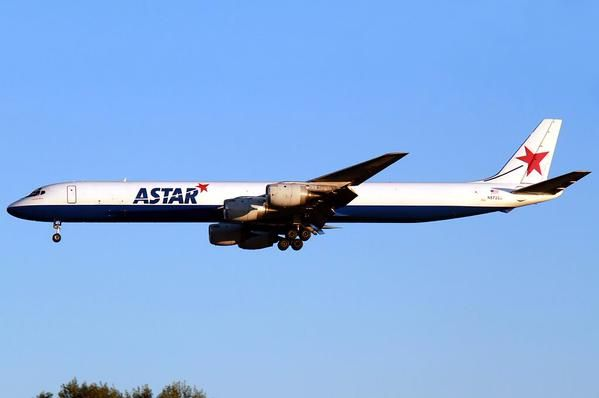 Astar Cargo Airlines, USA, ended ops in 2012 - Douglas DC-8F freighter