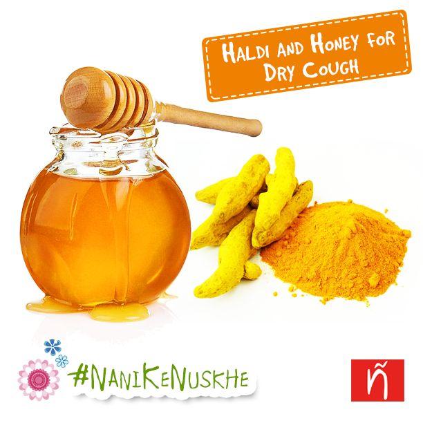 Add a gram of turmeric (haldi) powder to a teaspoon of honey for curing dry cough. #NinoBambino #BabyCare #Pregnancy #BabyTips #Parenting #BabyLove #NaniKeNuske