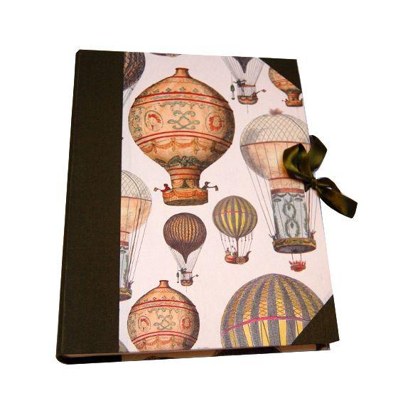 Libro de firmas guestbook handmade artesanal globos aeroestaticos verde green