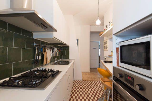 Abitazione privata. Casa my place, cucina eclettica, pavimento di recupero. Progetto Arch. Luca Braguglia