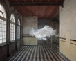 Artist creates indoor clouds