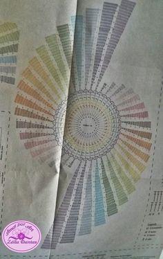 Runner Tavolo con Spiral Graph Love di Art Crochet