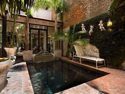 25 best ideas about courtyard pool on pinterest home for Pool design new orleans