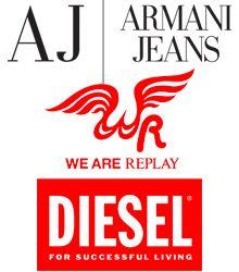 Armani Jeans/We are Replay - značkové oblečenie a obuv Zľava: 5%; 8% VIP