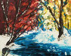 "Tablou in ulei ""Peisaj de iarna"""