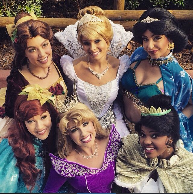 Holiday Princesses and their marvelous dresses! #regal #belle #cinderella…