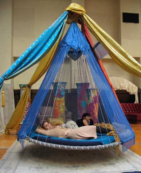 18 best family children 39 s floating beds images on for Suspended beds for kids
